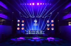 A view of the draw hall ahead of the UEFA European Under-21 Championship Final Tournament Draw