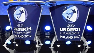Draw balls ahead of the UEFA European Under-21 Championship Final Tournament Draw