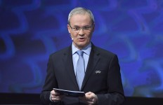 UEFA competitions director Giorgio Marchetti during the UEFA European Under-21 Championship Final Tournament Draw